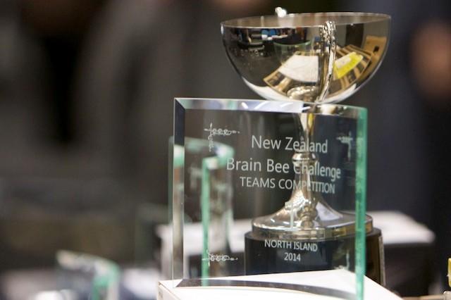 NZ Brain Bee Challenge trophy